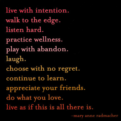 Live with intentions