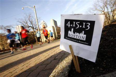 BostonMarathon sign